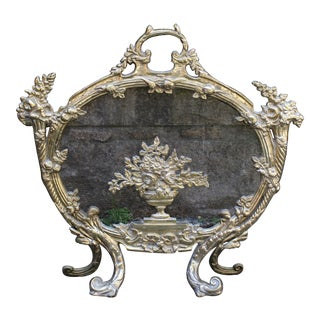 Late 19th Century French Fire Screen For Sale