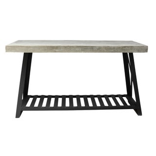 Cement & Iron Console Table For Sale