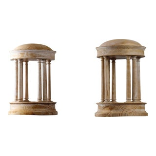 Pair of Italian Grand Tour Temple Domes For Sale