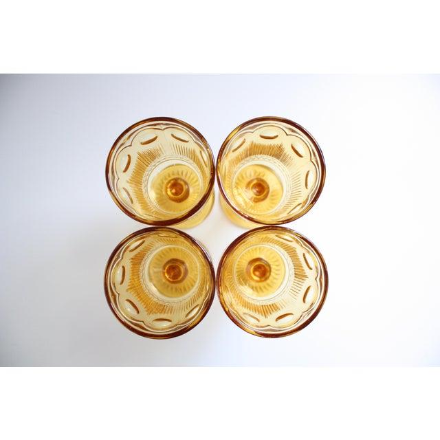 Vintage Amber Glass Goblets - Set of 4 - Image 7 of 7