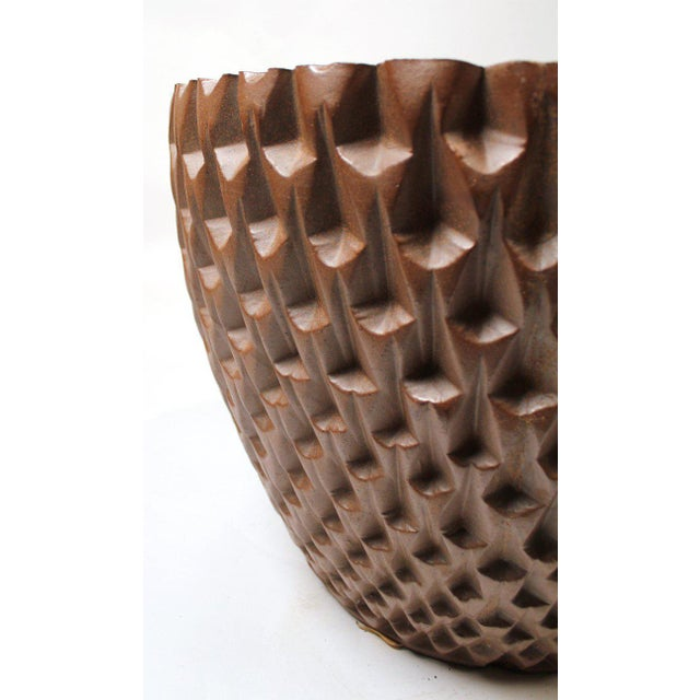 """1960s David Cressey Artisan Series Unglazed """"Phoenix"""" Planter Architectural Pottery For Sale - Image 5 of 9"""