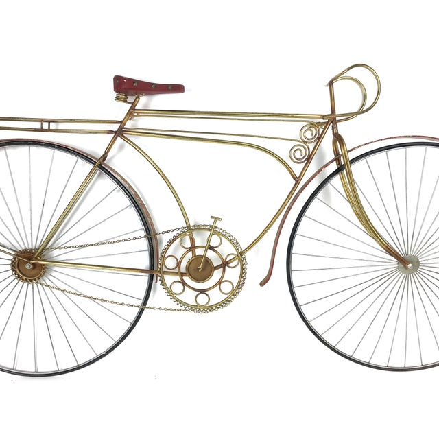 Mid-Century Modern 1980s Vintage C. Jere Ten Speed Racing Bicycle Metal Wall Sculpture For Sale - Image 3 of 6