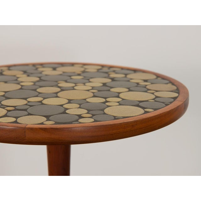 Wood 1960s Martz Coin Tile Side Table For Sale - Image 7 of 11