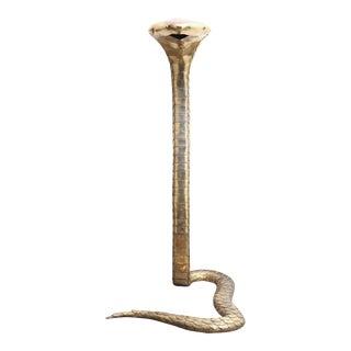 Brass Cobra Sculpture by Alain Chervet
