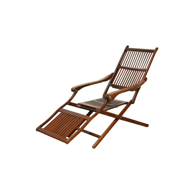 Antique Ocean Steamer Deck Chair For Sale - Antique Ocean Steamer Deck Chair Chairish