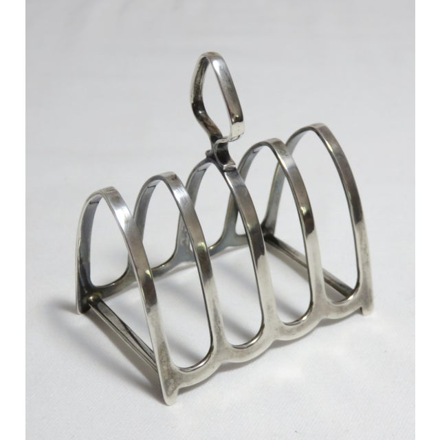 Art Deco 1924 Chester England Sterling Silver Toast Rack For Sale - Image 3 of 13