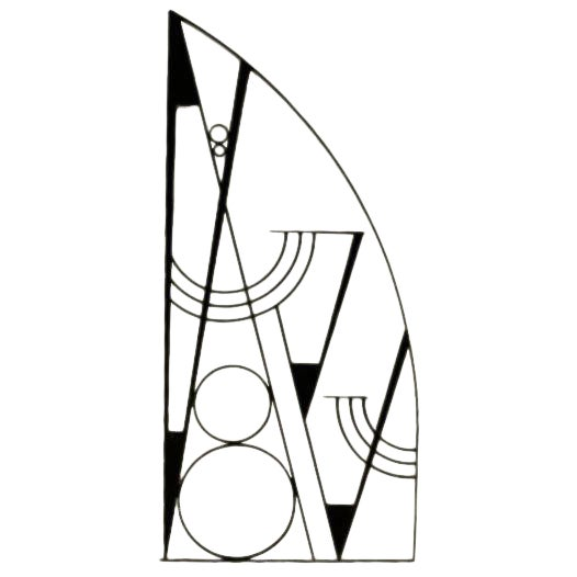 Art Deco Hammered Iron Screen - Image 1 of 7