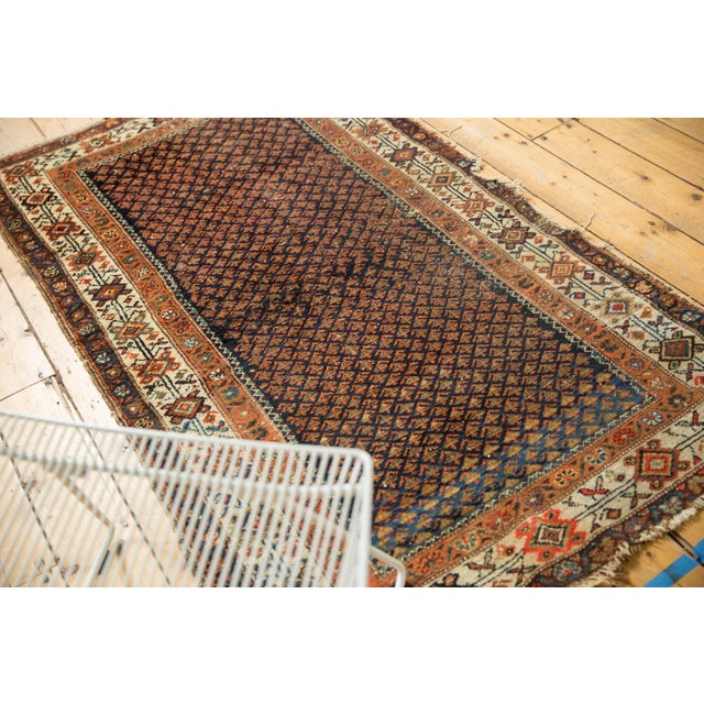 "Vintage Hamadan Rug - 3'7"" X 6' For Sale - Image 10 of 12"