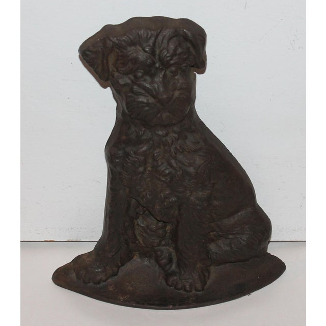 Monumental 19Thc Cast Iron Dog - Image 2 of 6