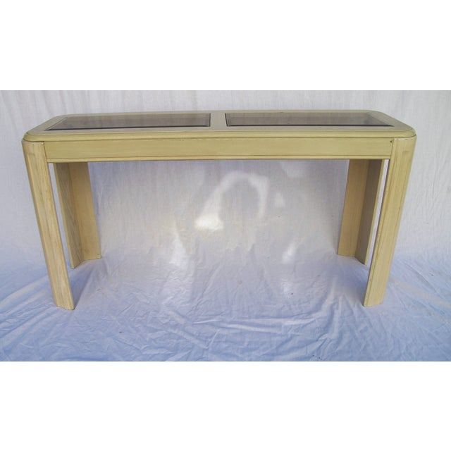 1980s White Washed Console from Yellow Pine - Image 6 of 6