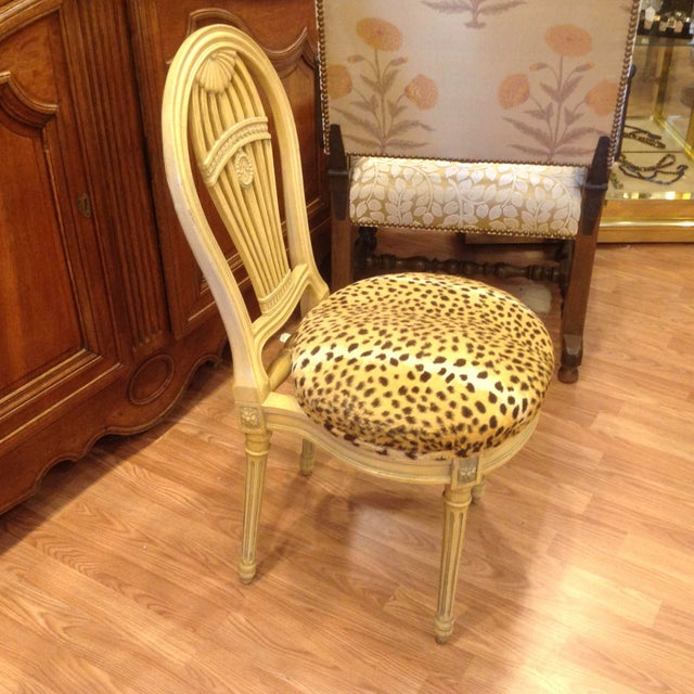 Brown Set of 4 Jansen Style Balloon Back Chairs For Sale - Image 8 of 12