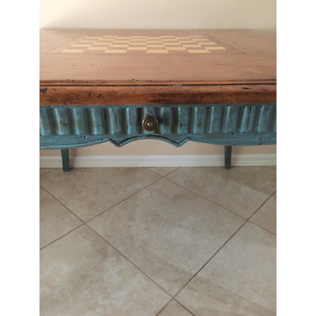 French Country Game Table - Image 5 of 7