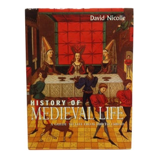 """1997 """"History of Medieval Life"""" by David Nicolle Coffee Table Display Book For Sale"""