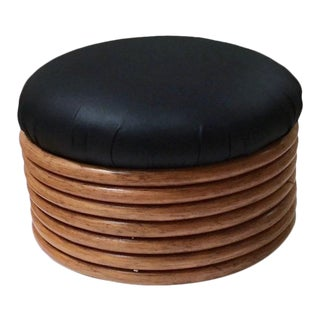 1970s Vintage Stacked Bent Wood Ottoman For Sale