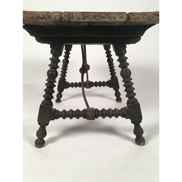 19th Century Spanish Baroque Style Side Table For Sale - Image 9 of 10