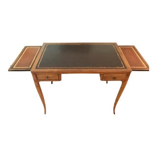 Antique Leather Top, Fruitwood Desk