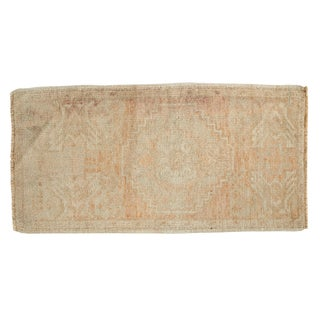 "Vintage Distressed Oushak Rug Mat - 1'5"" X 2'10"" For Sale"