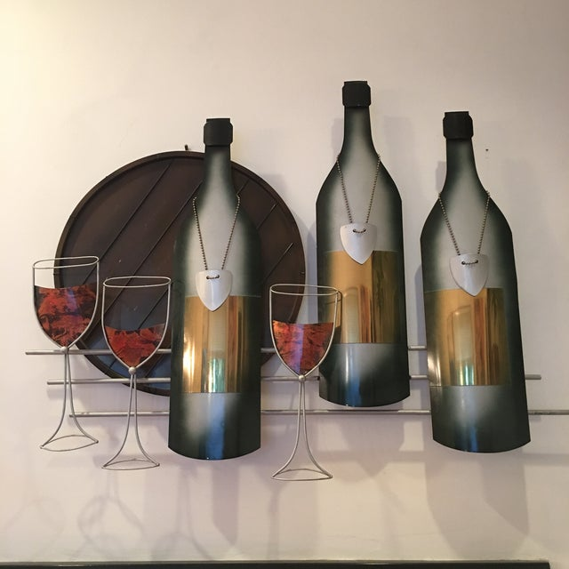 Signed C. Curtis Jere Artisan House Wine Tasting Sculptural Wall Art For Sale In Cincinnati - Image 6 of 10