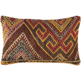 """Re-Claimed Chromatic Kilim Lumbar Pillow 
