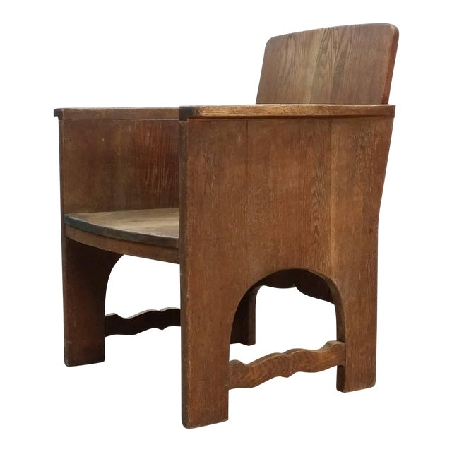 Early 20th Century Vintage Early European Arts and Crafts Chair For Sale