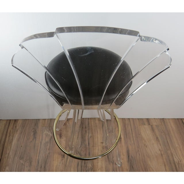 1970s Vintage Charles Hollis Jones Style Lucite Bar Stool For Sale - Image 12 of 13