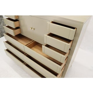 Multiple 12 Drawers Two Door Compartment Cube Shape High Wide Chest Dresser Preview
