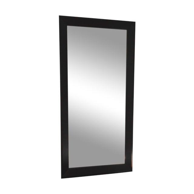 Crate & Barrel Black Floor Mirror - Image 1 of 2