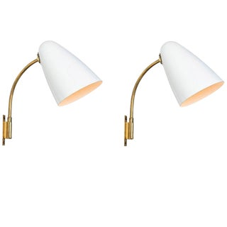 1950s Lisa Johansson-Pape Model 3054 Wall Lamps for Orno - a Pair For Sale