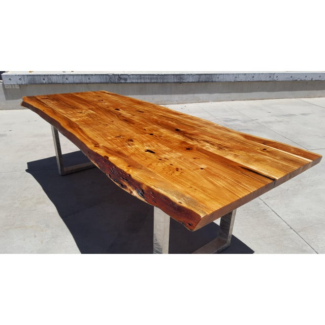 Acacia Wood Live Edge Dining Table - Image 3 of 9