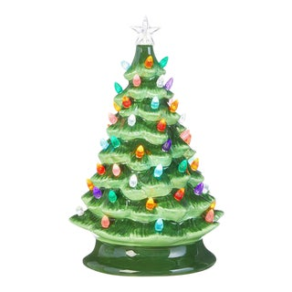 Kenneth Ludwig Chicago Ceramic Lighted Christmas Tree For Sale