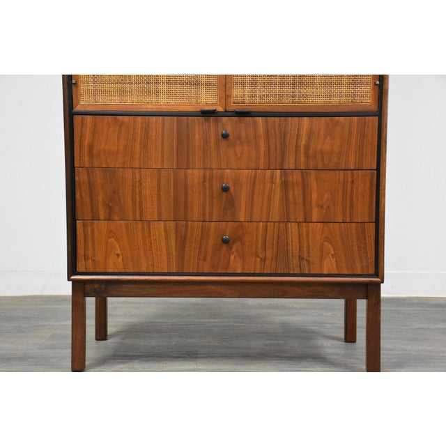Jack Cartwright for Founders Walnut Armoire Dresser For Sale - Image 9 of 11