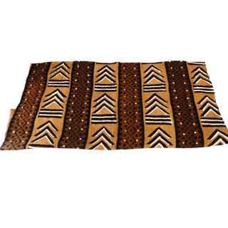 "African Mud Cloth Textile Mali 42"" by 60"" For Sale"