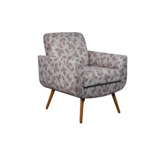 Modern Turin Floral Brown Armchair For Sale