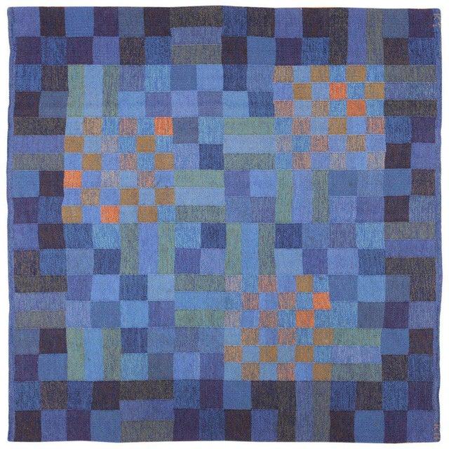Textile Vintage Scandinavian Square Rug by Karin Jonsson - 6′7″ × 6′7″ For Sale - Image 7 of 7