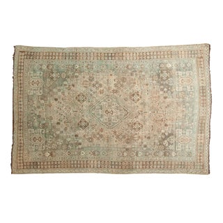 "Vintage Distressed Shiraz Carpet - 5'4"" X 8'3"""