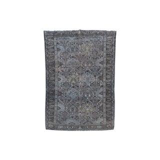 Vintage Persian Dark Blue Overdyed Bakhtiari - 5′4″ × 9′7″ For Sale