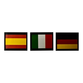 Wall Decor, Set of International Flags For Sale
