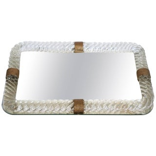 Vintage Mirrored Vanity Tray For Sale