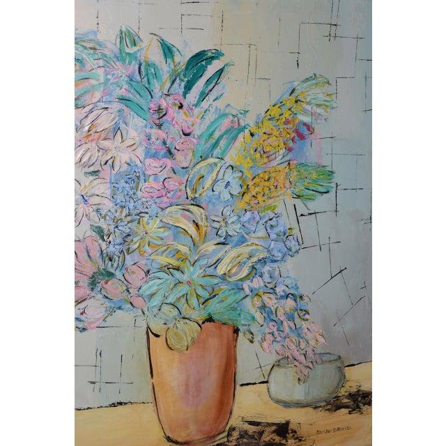 "Marguerite Daniel ""Floral Still Life"" Original Oil Painting C.1960s For Sale In San Francisco - Image 6 of 8"