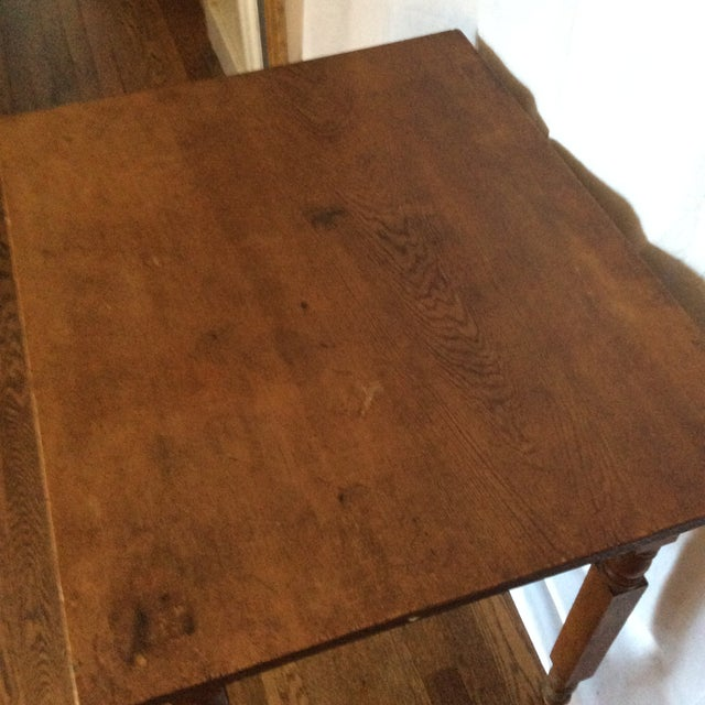 Primitive American Pine Table With Drawer For Sale - Image 10 of 13