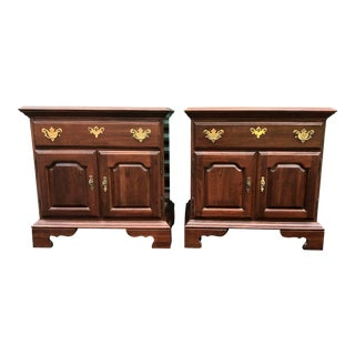 Jamestown Sterling Solid Cherry Nightstands- a Pair For Sale