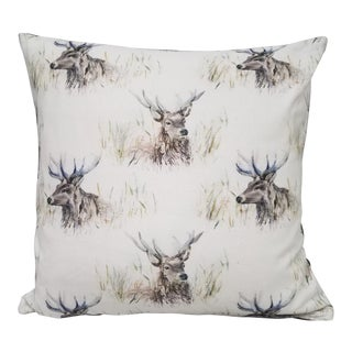 Stag Patterned Square Pillow For Sale