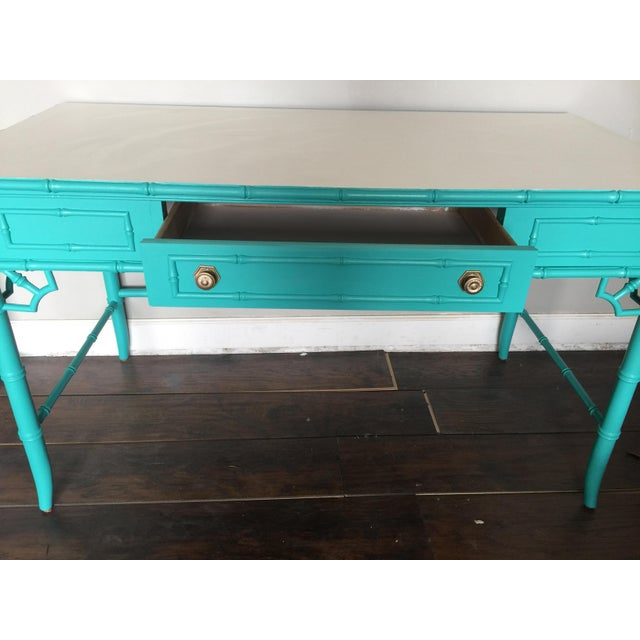 Bamboo Thomasville Chinoiserie Faux Bamboo Desk For Sale - Image 7 of 9