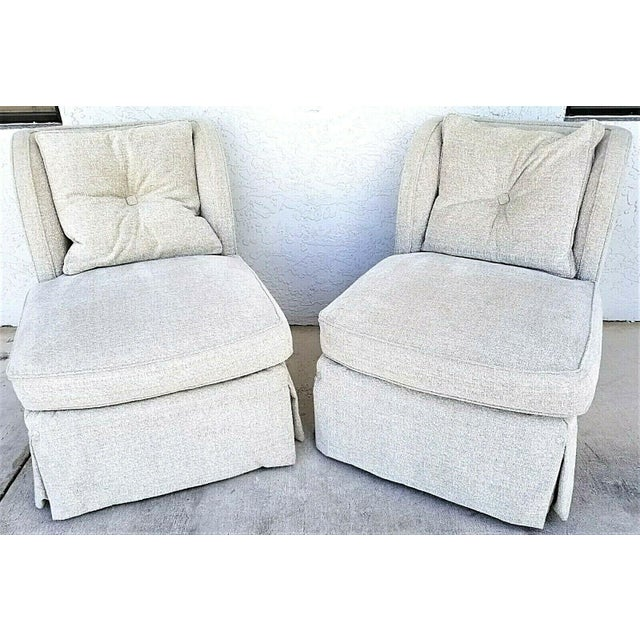 Offering One Of Our Recent Palm Beach Estate Fine Furniture Acquisitions Of A Pair of HENREDON UPHOLSTERY COLLECTION...