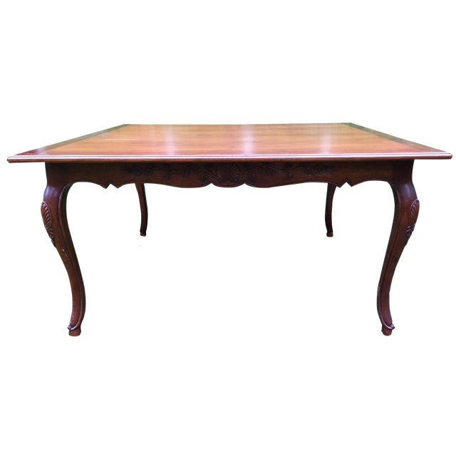 French Louis XV-Style Square Dining Table - Image 1 of 7