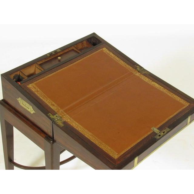 Animal Skin 19th Century Regency Lap Desk on Stand For Sale - Image 7 of 11