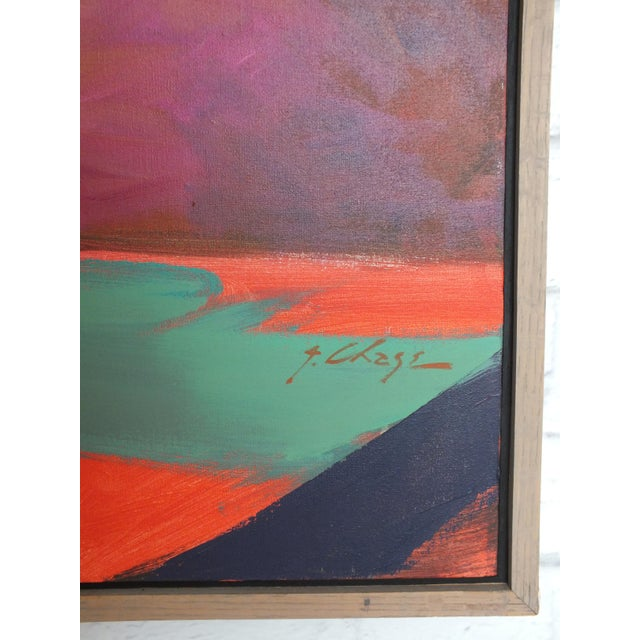 """Canvas Abstract Southwestern Landscape """"Twilight"""", Jamie Chase For Sale - Image 7 of 10"""