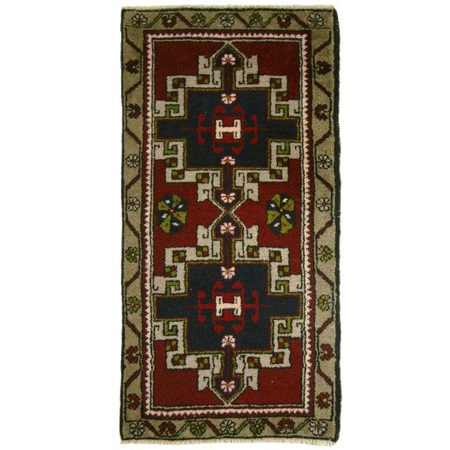 Geometric Yastik Turkish Carpet -- 1'11 x 3'3 - Image 1 of 2