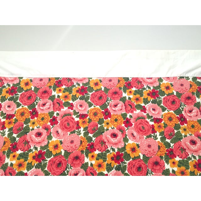Vintage 1960s Pink Floral Curtain - Image 4 of 6