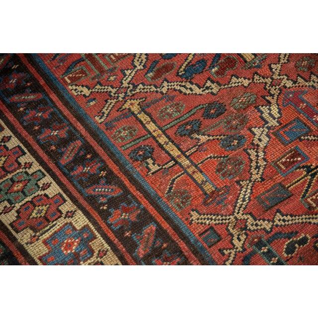 "Vintage Kurdish Square Carpet - 5'5"" X 6'2"" For Sale - Image 9 of 12"